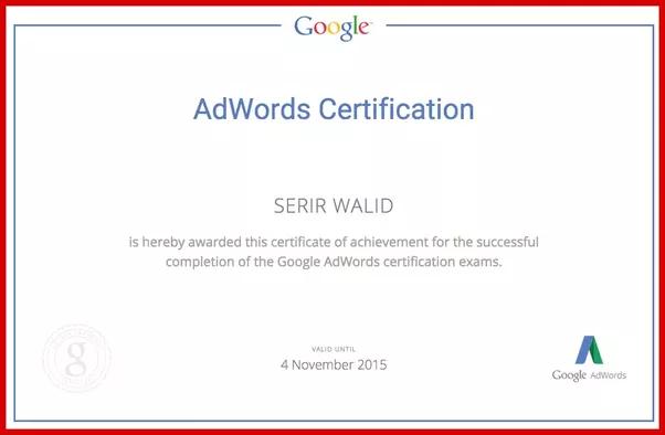 Google Adwords Certification Preparation