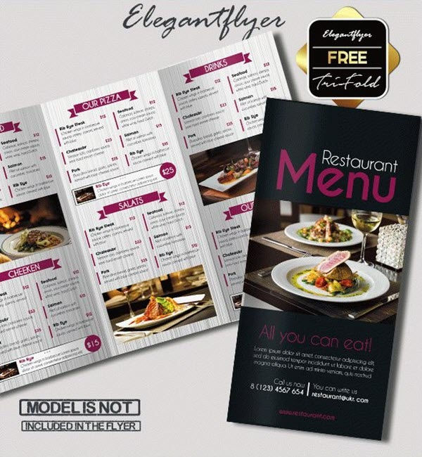 What is the best software for restaurant menu designing for Menu brochure template