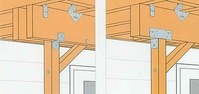 I Am Building A Small Deck (4u0027 X 5u0027) As A Landing And Stairs To A Back  Door. What Is The Most Appropriate Way To Attach The Joists To The  Supporting Posts?