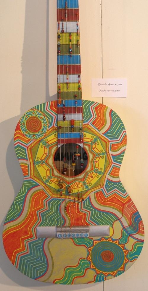 painted guitars guitar custom paint painting paintings acoustic kind ukulele electric hand finish written mosaic posts airbrush cool paula wordpress