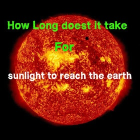how long does it take for light to reach earth