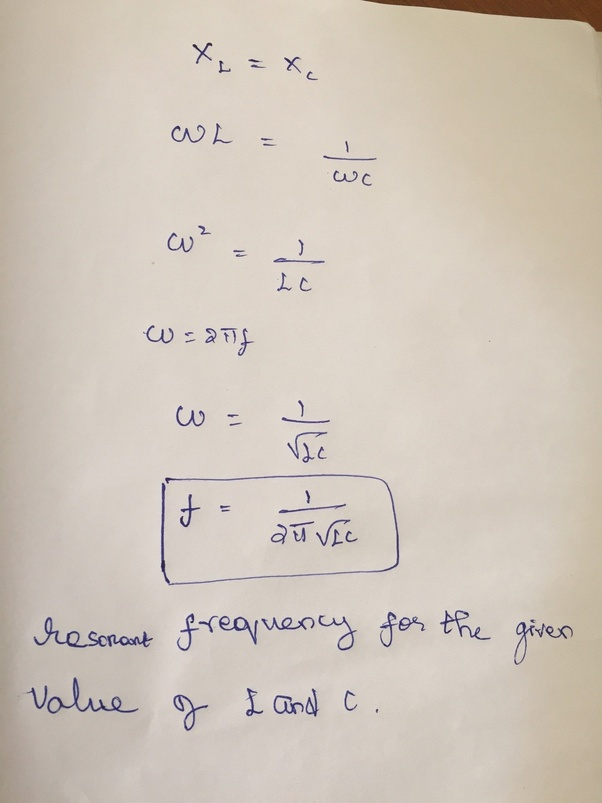 What is the condition for resonance in an LCR circuit? What