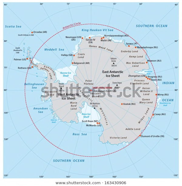 Which countries do the Antarctic circle pass through? - Quora