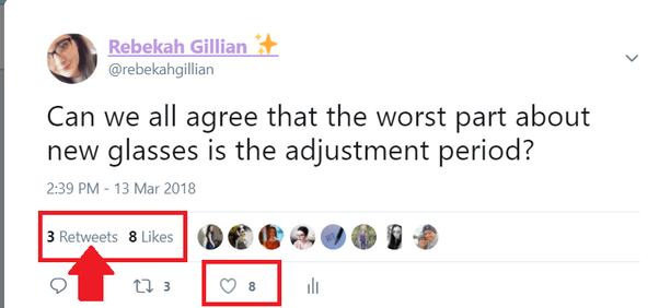 The Retweet button can be seen by the like button. Like with clicking on  the likes, you can do exactly the same with the Retweets. They're harder to  get, ...