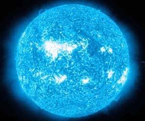 Blue giant star solar systems