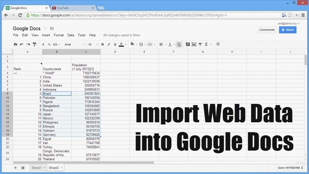 How to set up Google Sheets to automatically add data from