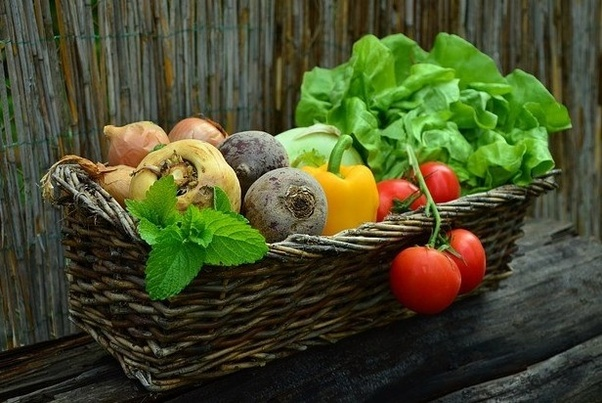 Vegetables in a basket - Smart Tips to Eat Healthy on a Budget