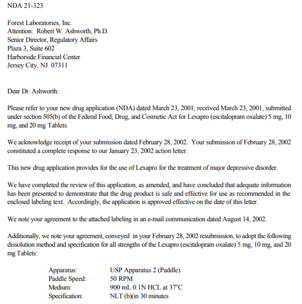 Fda Approval Letters - Letter BestKitchenView CO