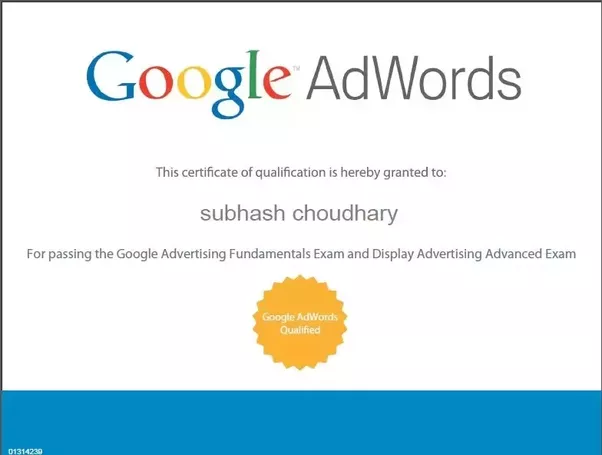 Just so you know, for anyone who applied for Google's partner program,  Adwords certification is Free. You can be individually certified that way.