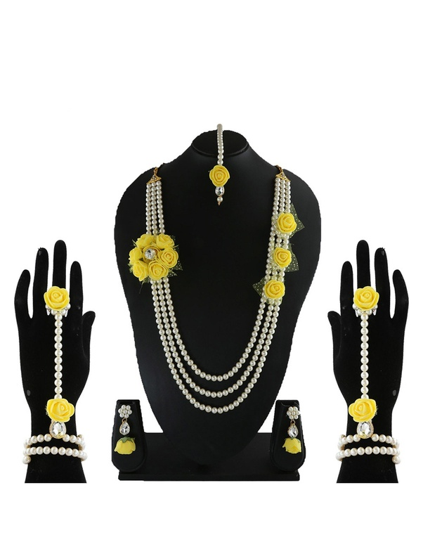 Where Can I Buy A Flower Jewellery Set For Haldi Mehendi Quora