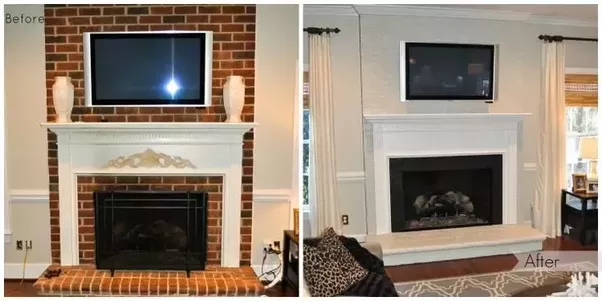 How To Update A Red Brick Fireplace Quora