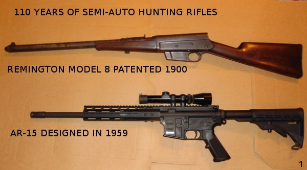 Why do people suggest that an AR 15 and semi-automatic 223 hunting