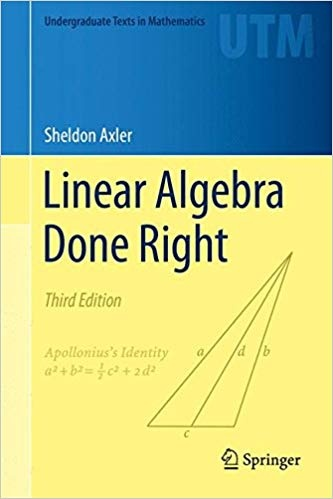 Where can I find a PDF of Axler's Linear Algebra book for free? - Quora