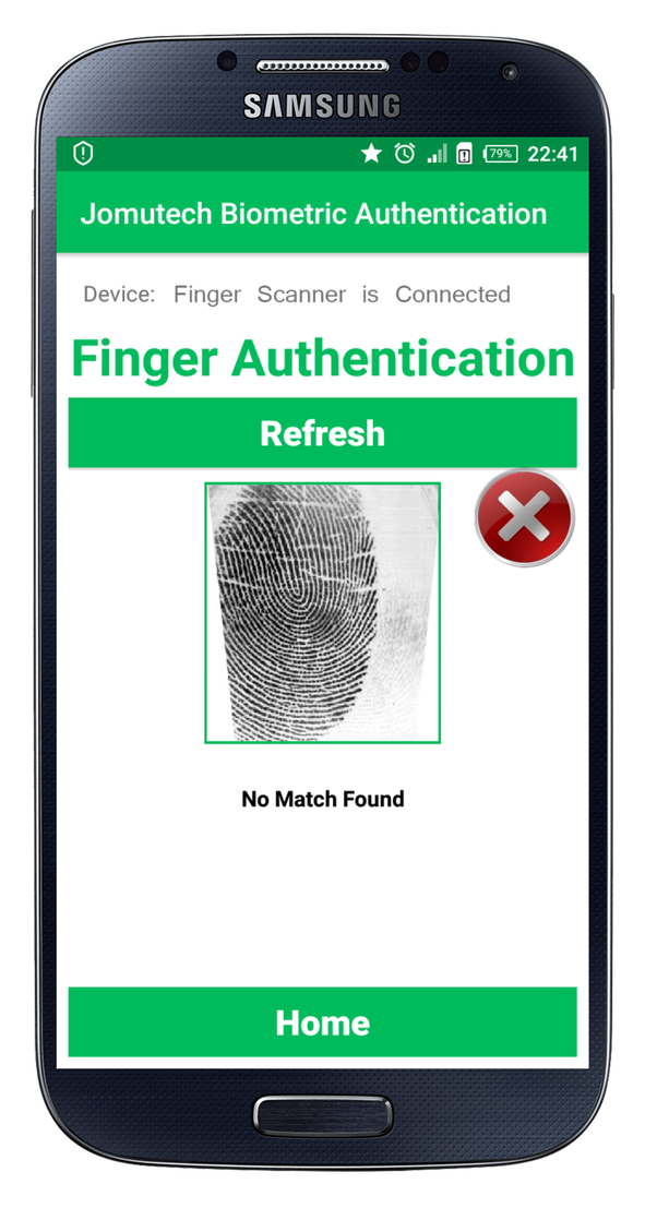 How to upload finger prints in database using Android code