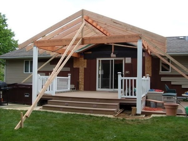 If the posts supporting the roofs are placed directly on the deck structure  below, ...