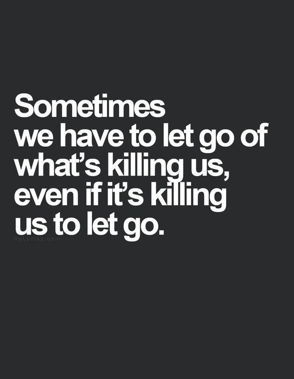 How to let go of someone you really love