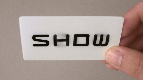 What are the best business cards quora lenticular on business cards for the new york based production company sideshowwhen tilting the card the word side changes into show by turning the colourmoves