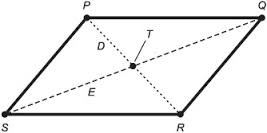 Abcd is a parallelogram with side ab12 cm its diagonal ac and bd now you can work ur way out easily for the angle qsr by drawing a line perpendicular to sr crossing the point ccuart Images