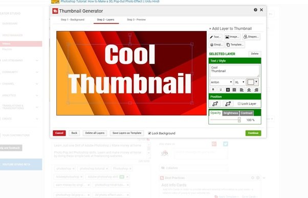 What is the best website or apps for a YouTube thumbnail