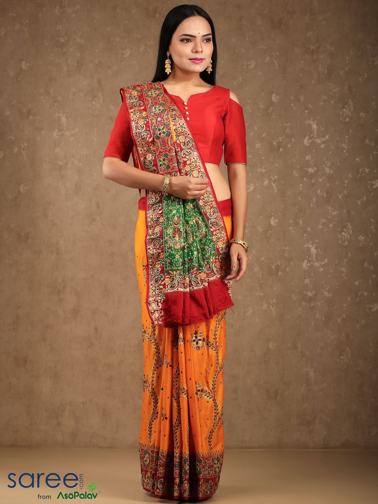 bc6524a2c9 These days, even though India is under high influence of the western  culture, a red saree can still be seen in the wardrobe of almost every  Indian bride!