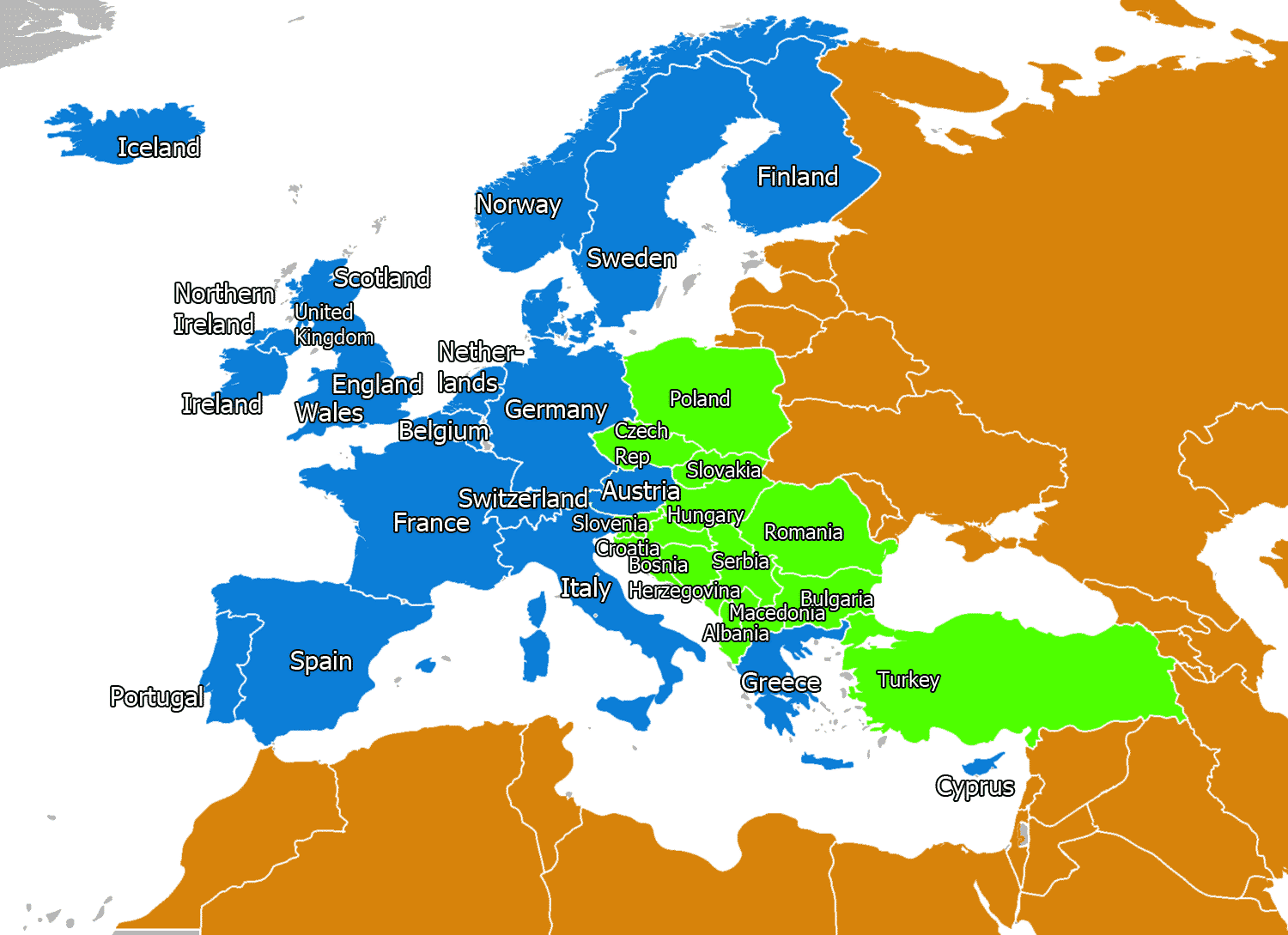 What Countries Are Considered To Be Western Europe Quora
