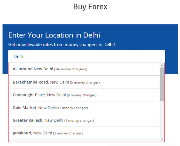Best forex exchange in india