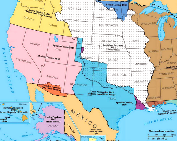 How True Is The Saying That Texas And California Were Originally - Us-map-before-mexican-american-war
