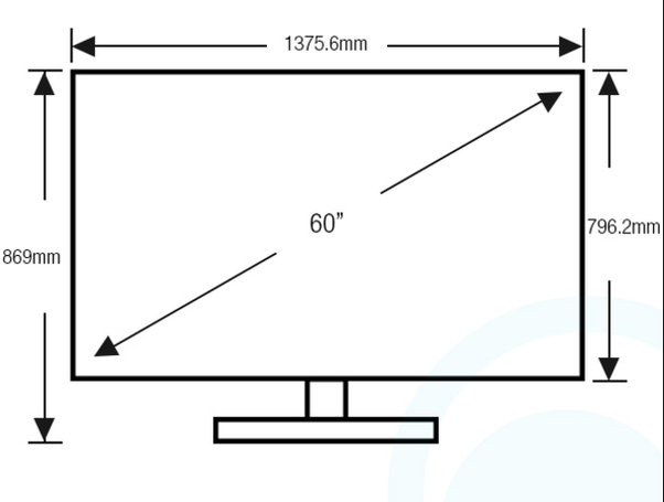 What are the dimensions of a 60 39 flat screen tv quora for What size tv do i need for a 12x15 room