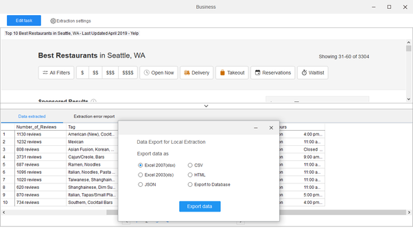 What's the best way to scrape Yelp listings to  CSV? - Quora