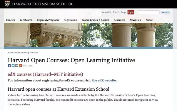 Like Stanford Online, Harvard Extension features free online education  courses from Harvard only. This is another excellent source for top notch  course ...