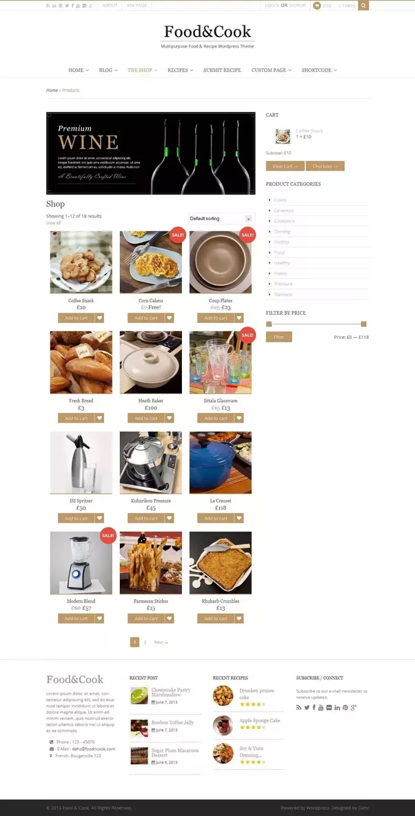 What is best wordpress theme to sell vegetables and fruits online food cook multipurpose food recipe wp theme forumfinder Choice Image