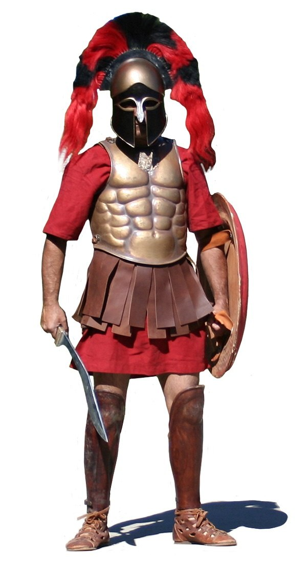 Did Spartans not wear armor? - Quora