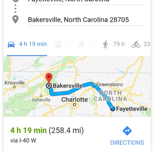 Greensboro nc to fayetteville nc
