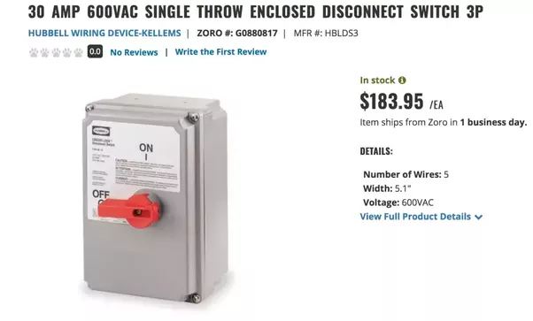 How Does A Fused Disconnect Switch And A Circuit Breaker