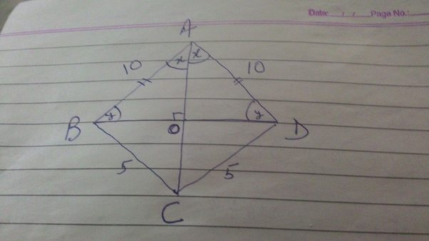 In the quadrilateral abcd abad10 bccd5 what is the angle of in the above image ccuart Image collections