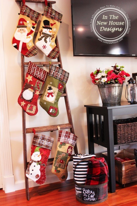 hang stocking on your windows this idea is definitely unique and fun if you live in a high rise apartment id definitely suggest trying this idea so - Christmas Stocking Holders For Fireplace