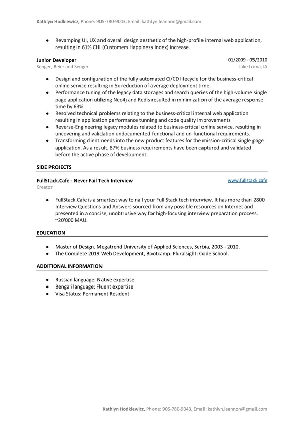 What Are Your Tips For Developer Resumes Quora