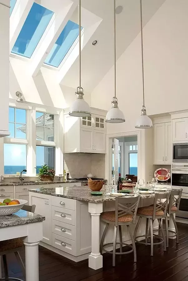 the roof line with no rooms above that section of the home this can be a great source of more natural light and the appeal of a row of skylights - What Is A Vaulted Ceiling