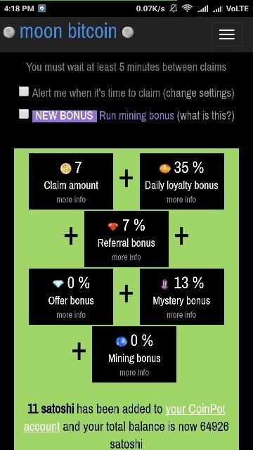 How To Run The Mining Bonus On Moon Bitcoin Low Power Cpu For Mining