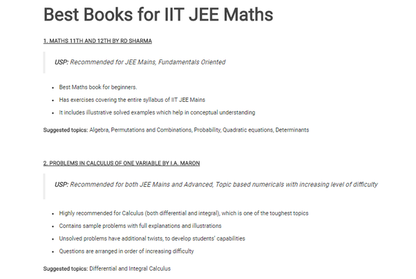 Which are the best books for the JEE 2019? - Quora