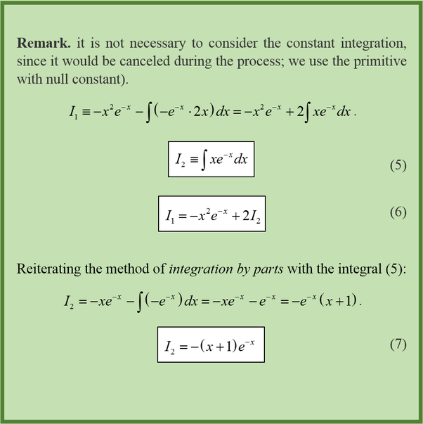 How To Solve Improper Integral (x^2 E^-x Dx) Integrated