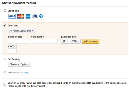 How to use the RuPay card to make a payment on Flipkart, Amazon