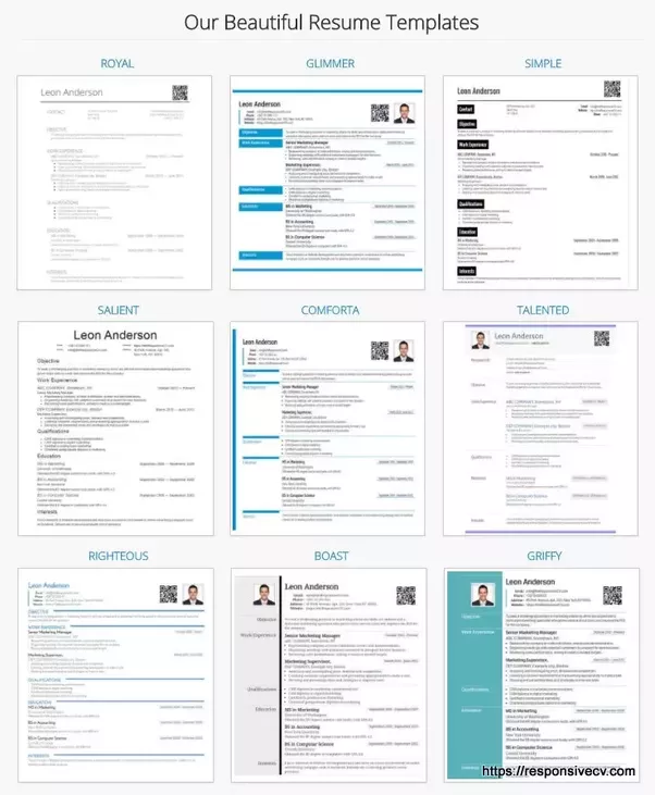 what are some best html5 responsive resume  cv templates to