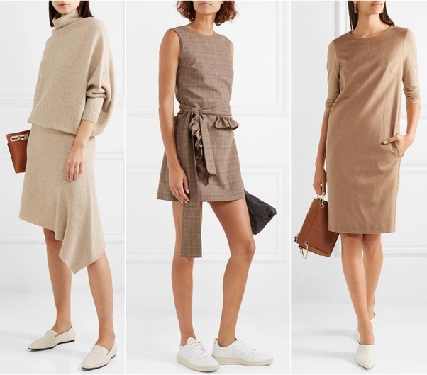 fc092ffdd6ec What color shoes should I wear with a beige dress  - Quora