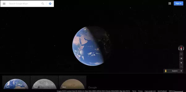 What are some amazing facts about google maps quora in earth mode google maps shows you real time day and night view as if you are looking at earth from space gumiabroncs Gallery