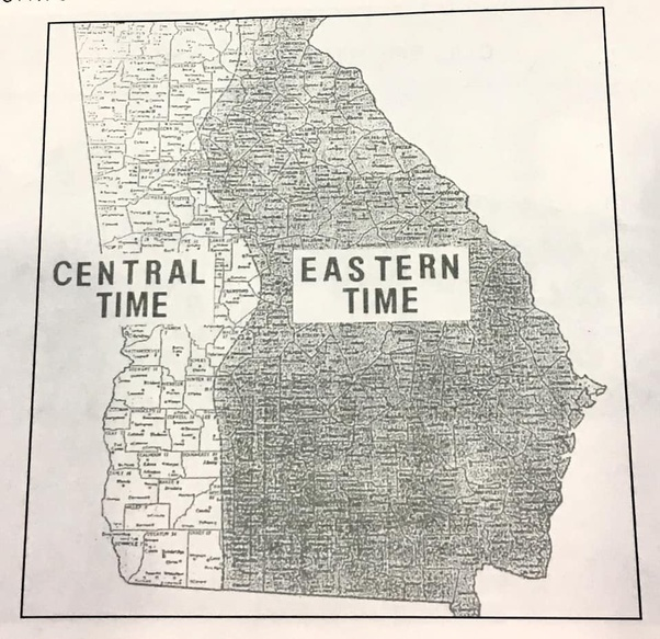 Was Atlanta Georgia ever in the central time zone? - Quora
