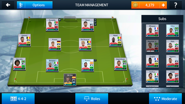 Which are the best squad and tactics in Dream League Soccer (Android