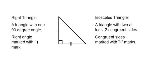 how to draw an isosceles triangle