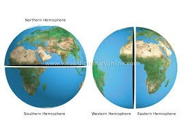 Awesome India Is In The Northern Hemisphere In The Left Figure And In The Eastern Hemisphere  In The Right Figure.