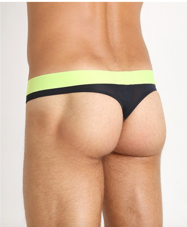 Gay men wearing thongs